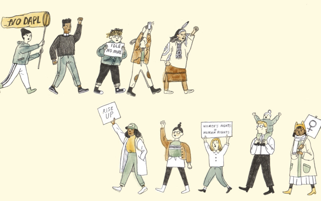 The anatomy of a protest