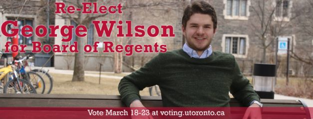 VUSAC Elections 2017: Board of Regents candidate, George Wilson